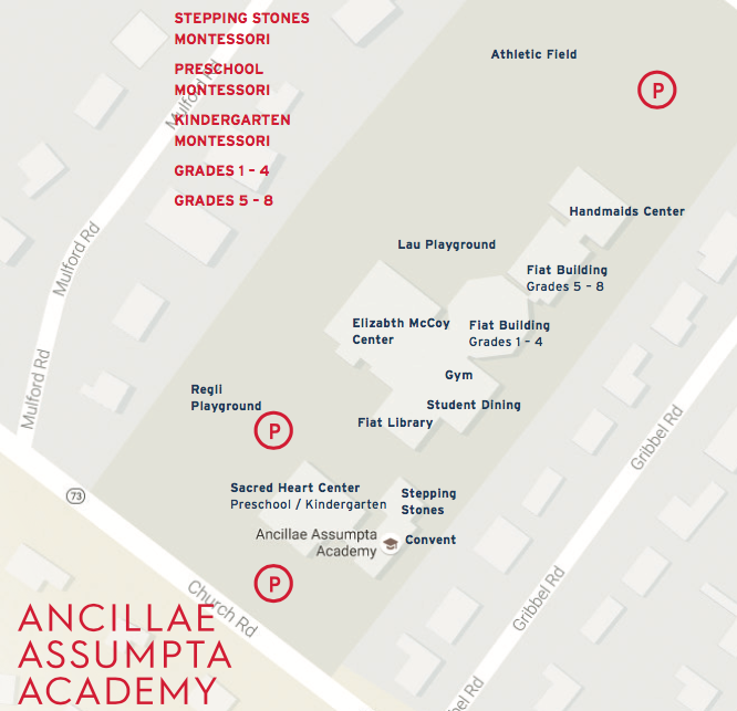 Map of the Ancillae-Assumpta Academy campus