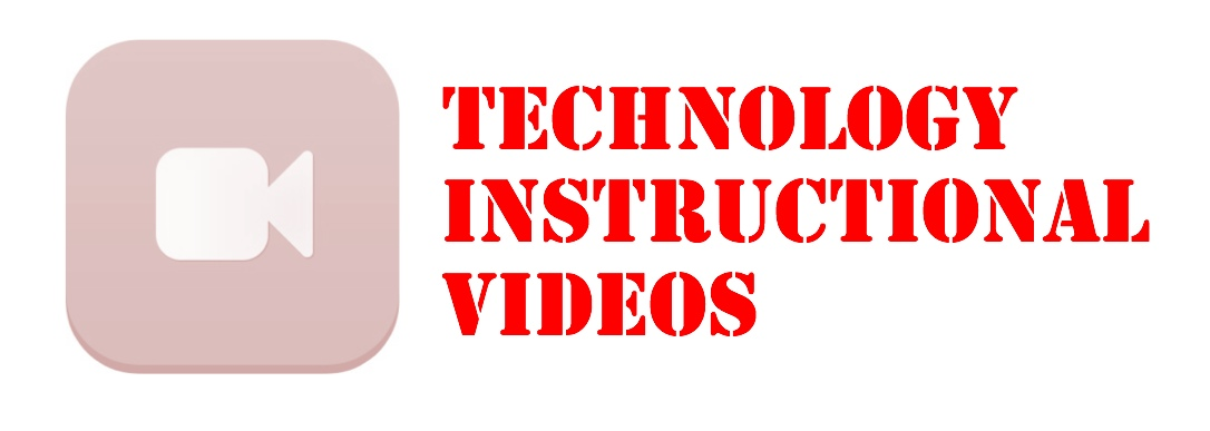 Technology instructional videos